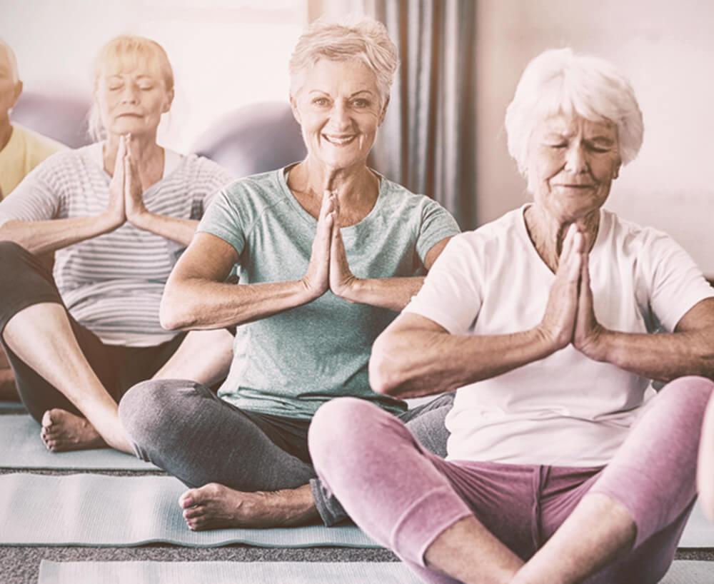 Grandmothers Playing Yoga